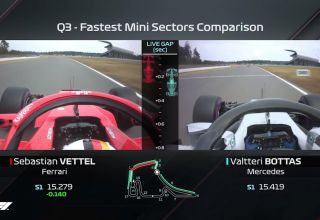 German GP F1 2018 qualifying best sector times onboard comparison Vettel Bottas Hockenheim Photo F1