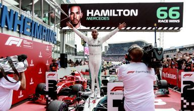 Hamilton celebrates his 66th win at German GP F1 2018 Hockenheim Photo Daimler