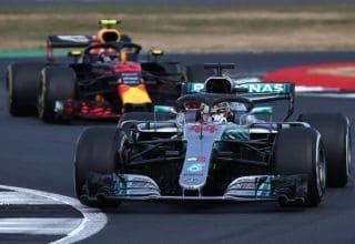 Hamilton leads Verstappen British GP F1 2018 Photo Red Bull