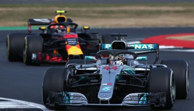 Hamilton leads Verstappen British GP F1 2018 Photo Red Bull
