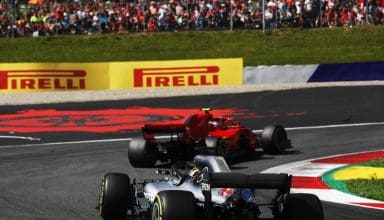 Raikkonen leads Hamilton Austrian GP F1 2018 Photo Pirelli