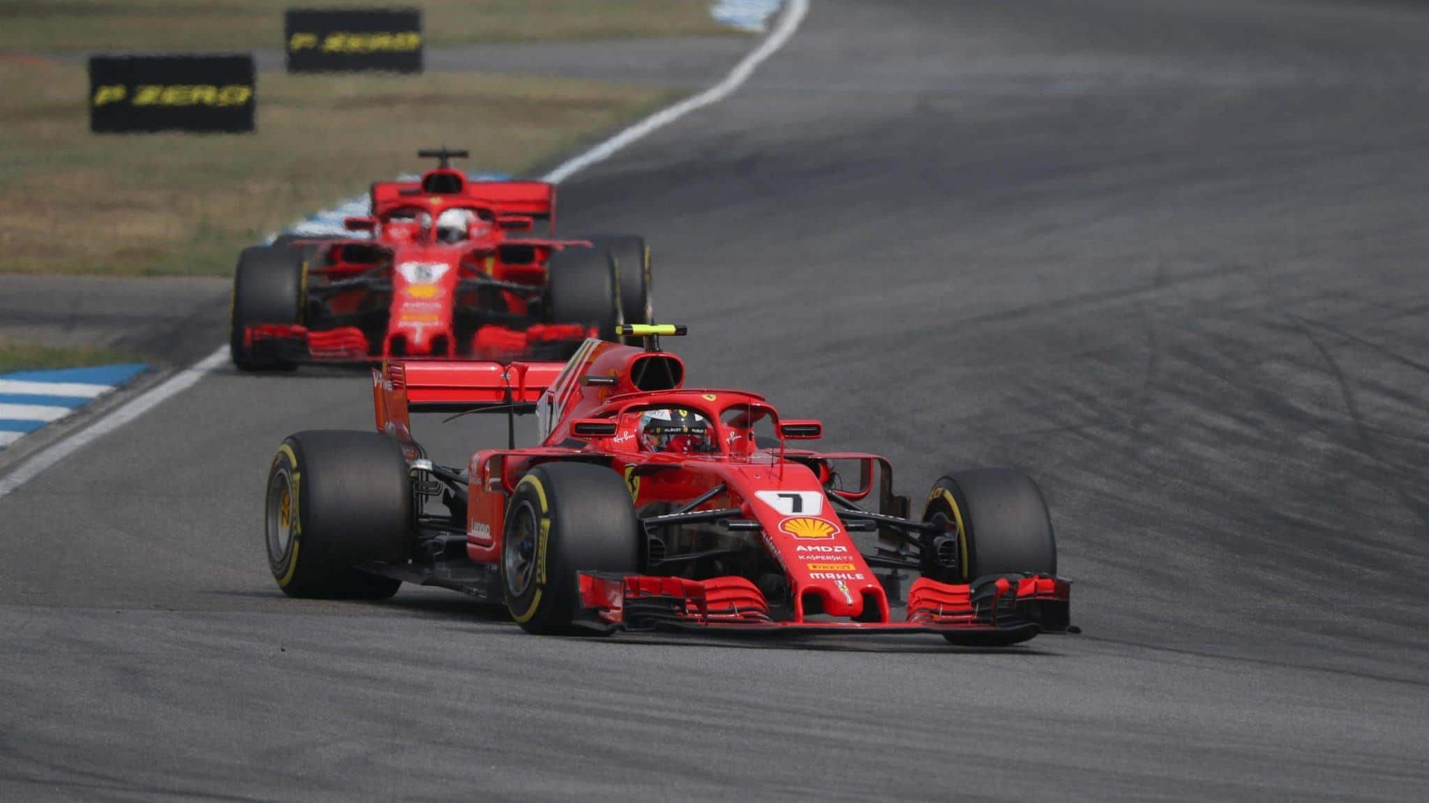 Raikkonen leads Vettel German GP F1 2018 Photo F1 Ferrari