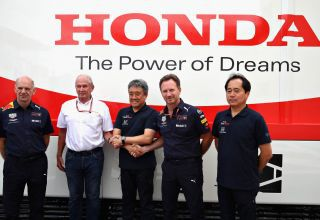 Red Bull Honda Newey Marko Horner Tanabe Photo Red Bull