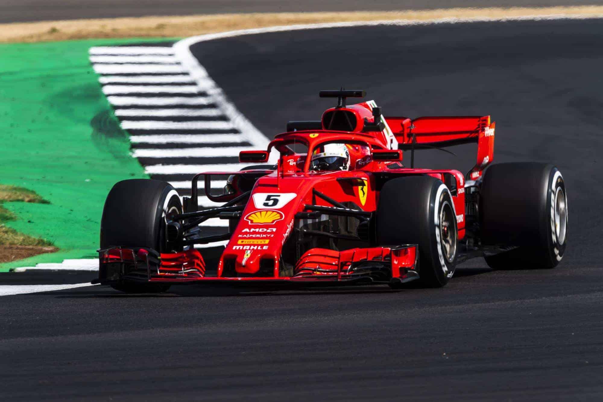 Sebastian Vettel Ferrari SF71H British GP F1 2018 Photo Ferrari