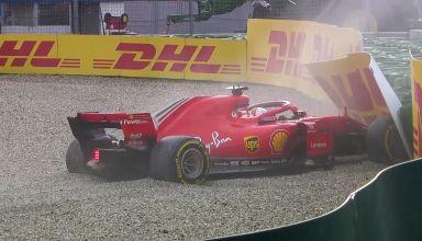Sebastian Vettel Ferrari SF71H German GP F1 2018 crash racer Photo Ferrari F1