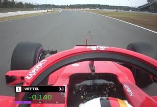 Sebastian Vettel Ferrari SF71H German GP F1 2018 onboard pole position Photo Ferrari F1 TV