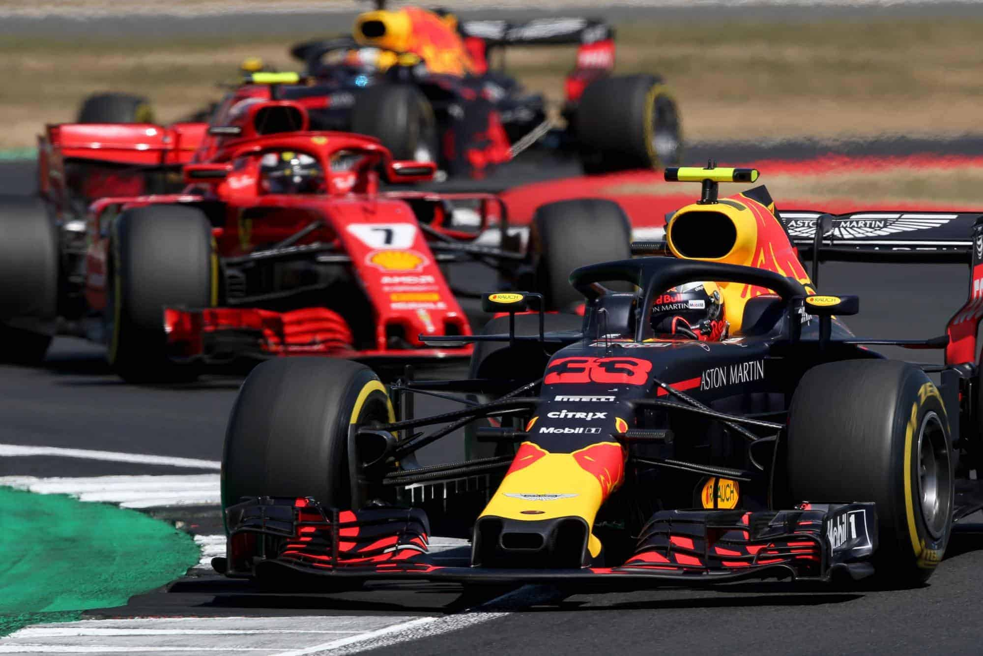Verstappen leads Raikkonen Ricciardo British GP F1 2018 Photo Red Bull