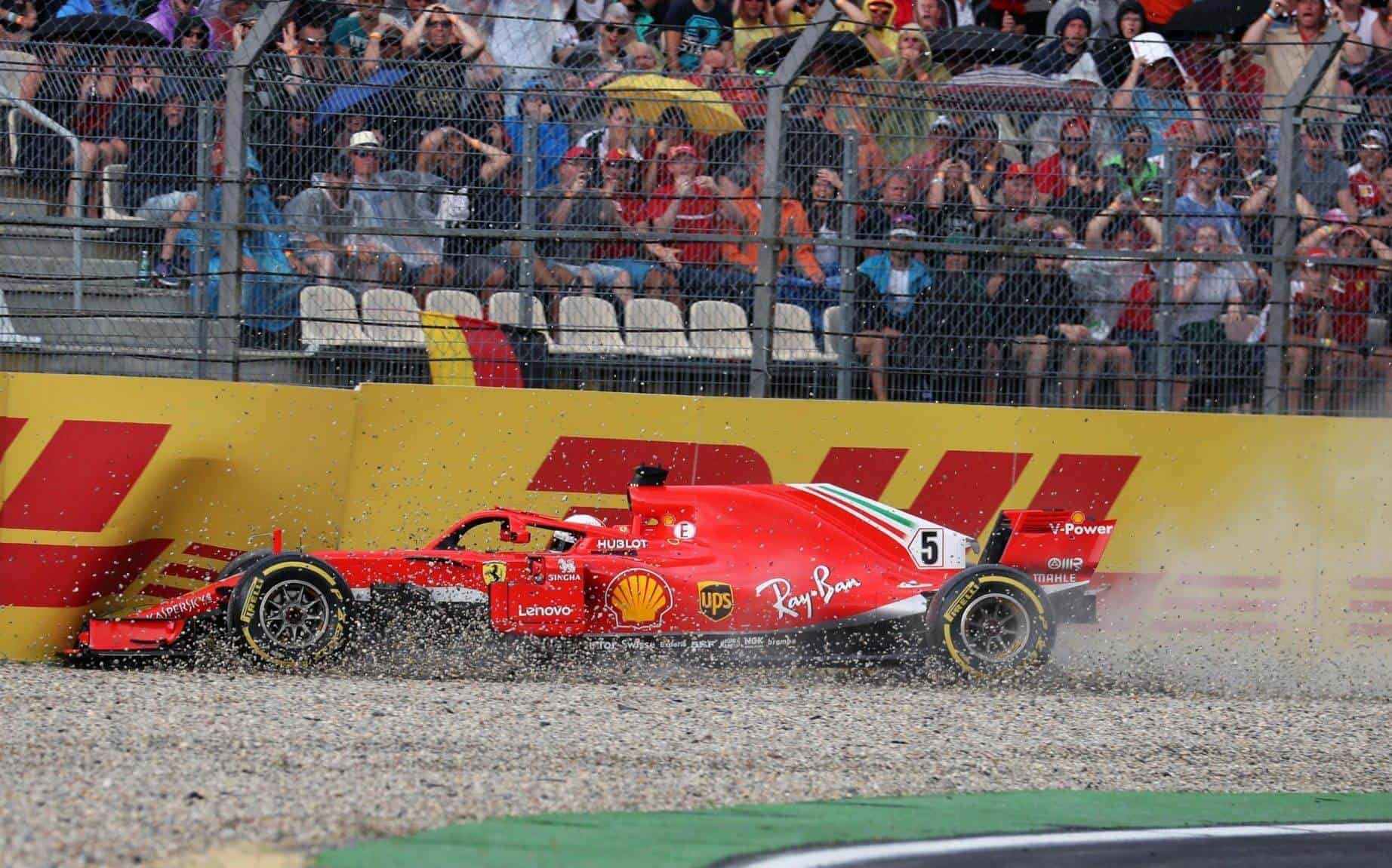 Vettel German GP F1 2018 crash Photo F1
