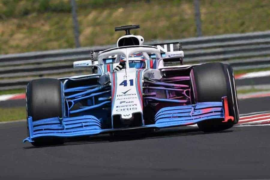 Williams F1 2019 front wing test Hungaroring F1 2018 post race test flowiz Photo AMuS