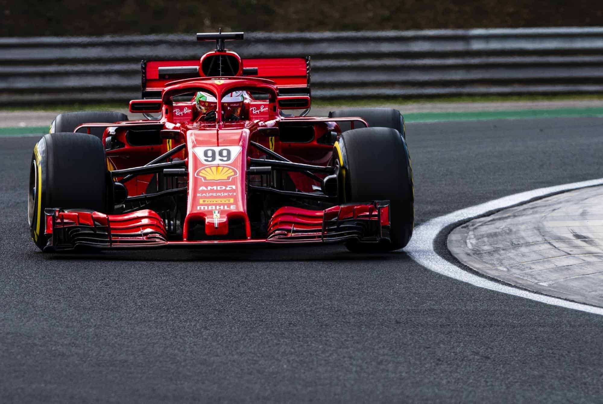 Antonio Giovinazzi Ferrari SF71H Hungaroring test day 1 Photo Ferrari
