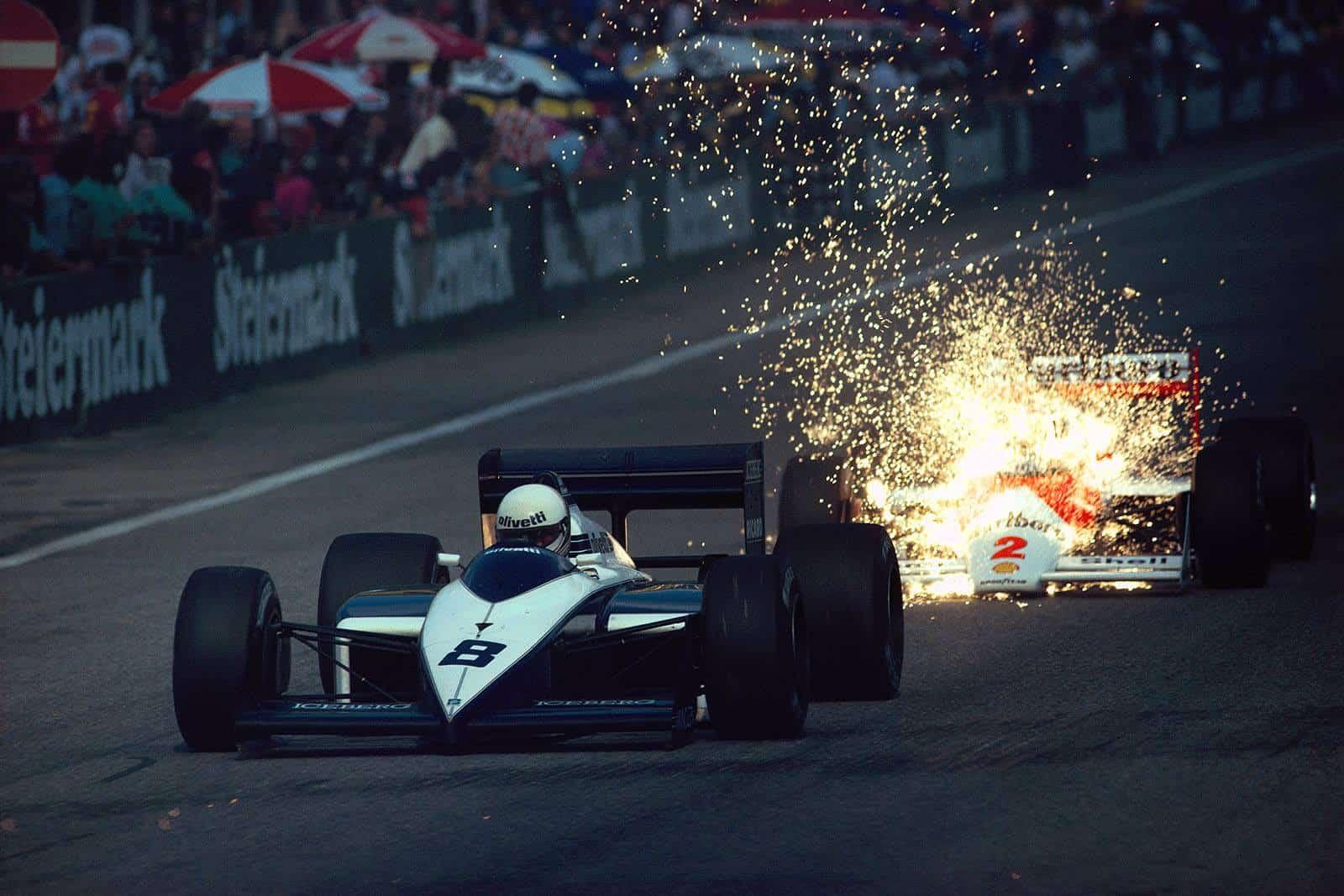 Austrian-GP-F1-1987-Andrea-De-Cesaris-Br
