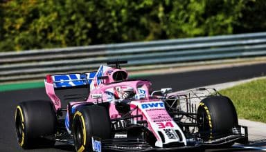 Force India Hungaroring F1 2018 test new F1 2019 front wing Photo Force India
