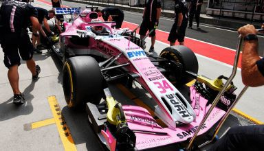 Force India Hungaroring F1 2018 test pitlane Photo Force India