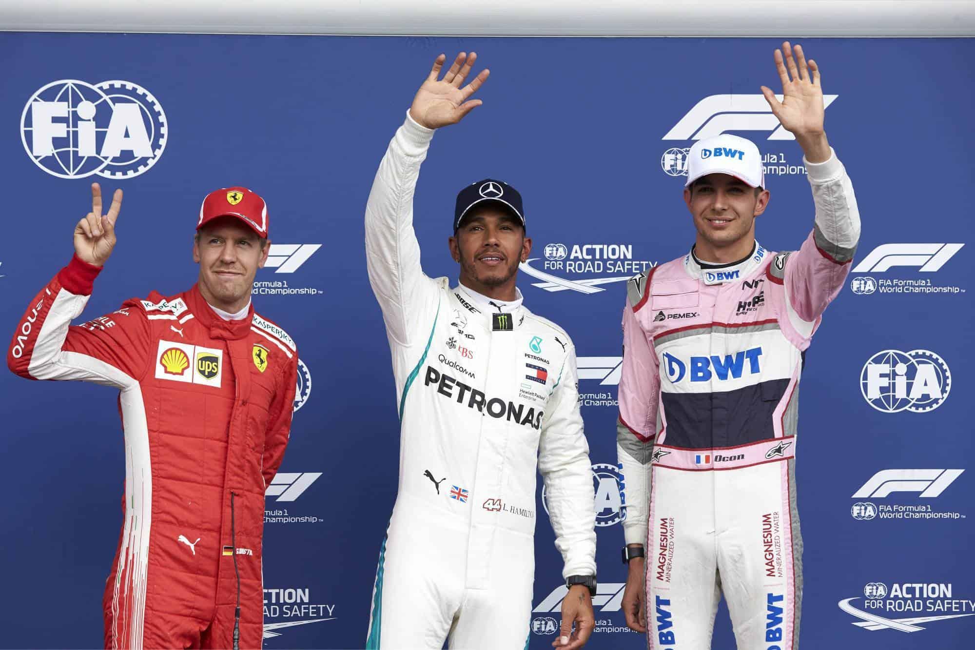 Hamilton Vettel Ocon Belgian GP F1 2018 Photo Daimler