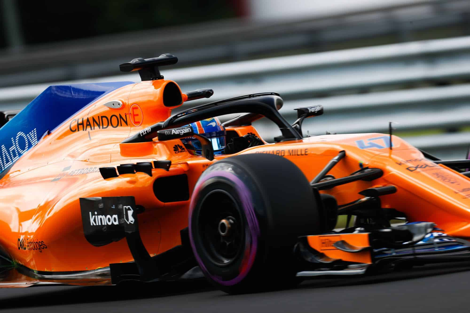 Lando Norris McLaren MCL33 Hungarian GP F1 2018 post race test Photo McLaren