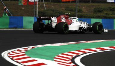 Leclerc Alfa Romeo Sauber C37 Hungarian GP F1 2018 last corner Photo Sauber