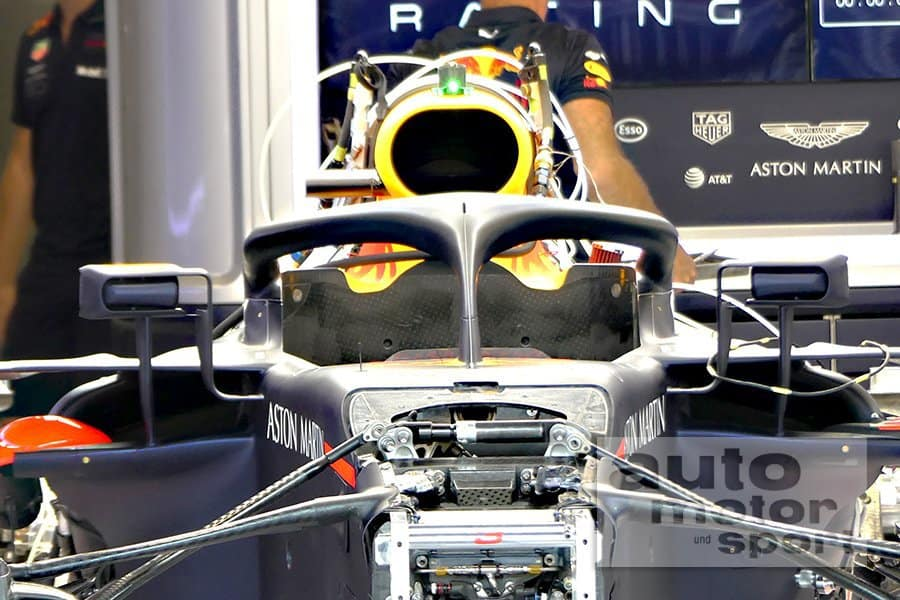 Red Bull RB14 Ferrari like mirrors Belgian GP F1 2018 3 Photo AMuS