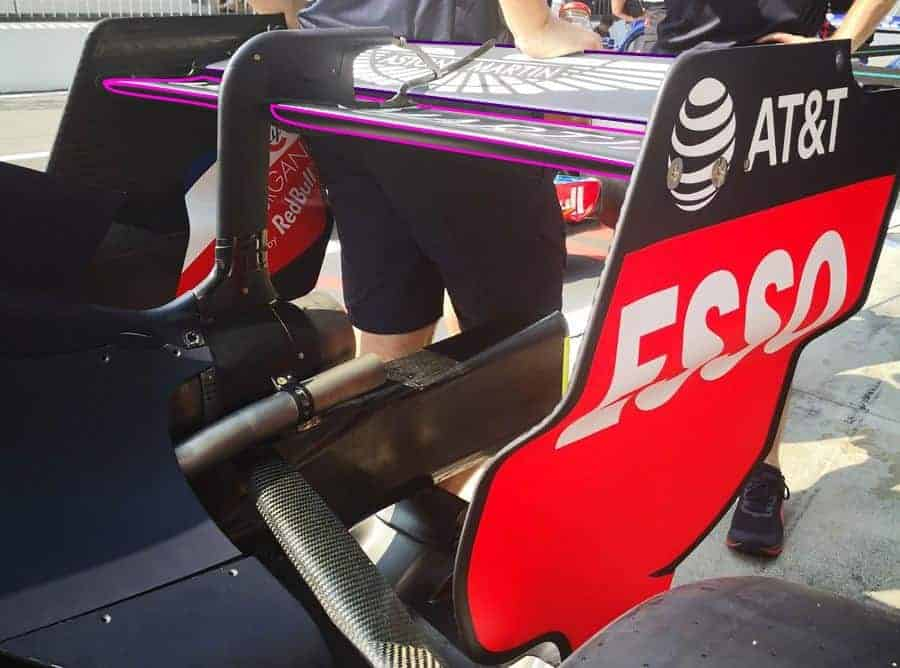Red Bull RB14 Monza rear wing F1 2018