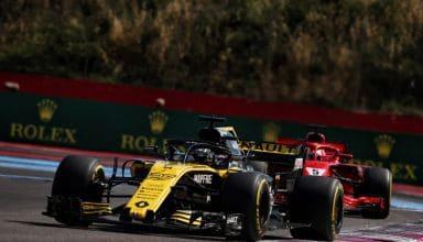 Renault leads Ferrari French GP F1 2018 Photo Renault