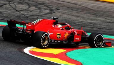 Sebastian Vettel Ferrari SF71H Belgian GP F1 2018 chicane Photo Ferrari