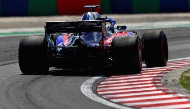 Toro Rosso STR13 Honda Hungarian GP F1 2018 rear end Photo Red Bull