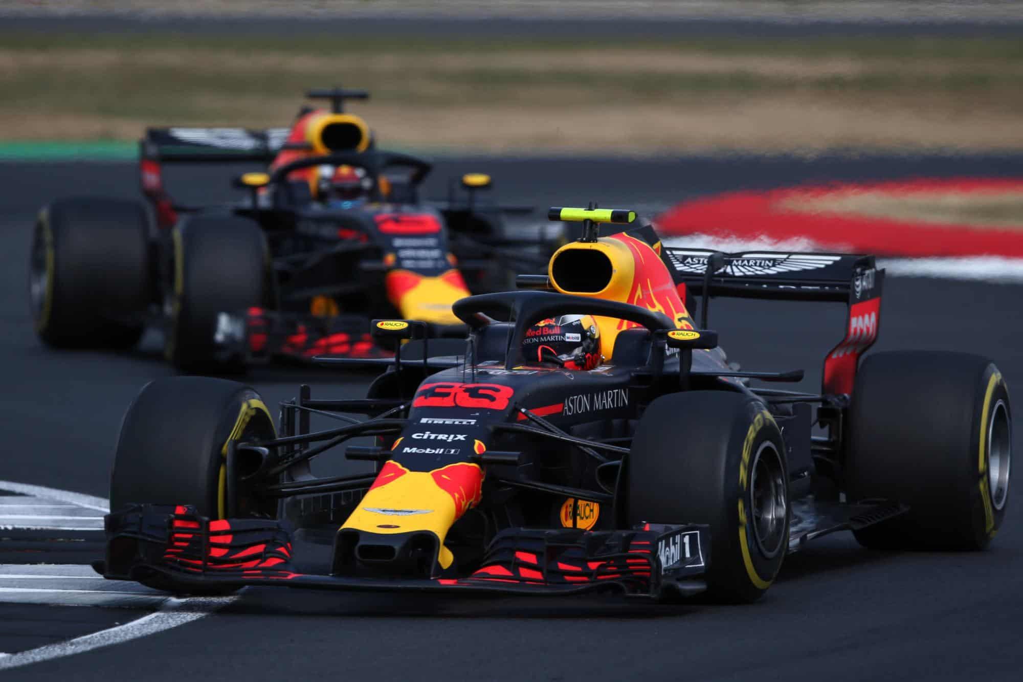 Verstappen leads Ricciardo British GP F1 2018 Photo Red Bull