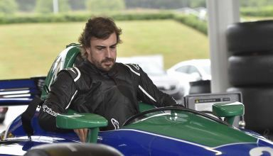 Alonso Indycar 2018 test Barber in the cockpit Photo IndyCar
