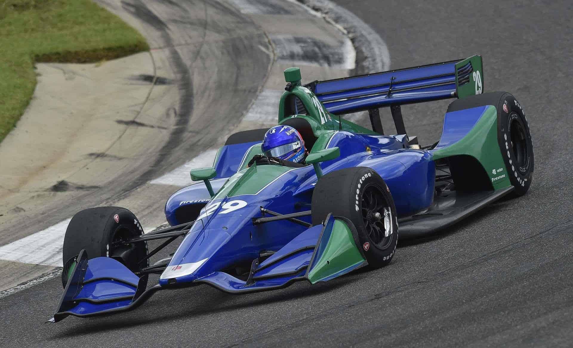 Alonso Indycar 2018 test Barber on the track Photo IndyCar