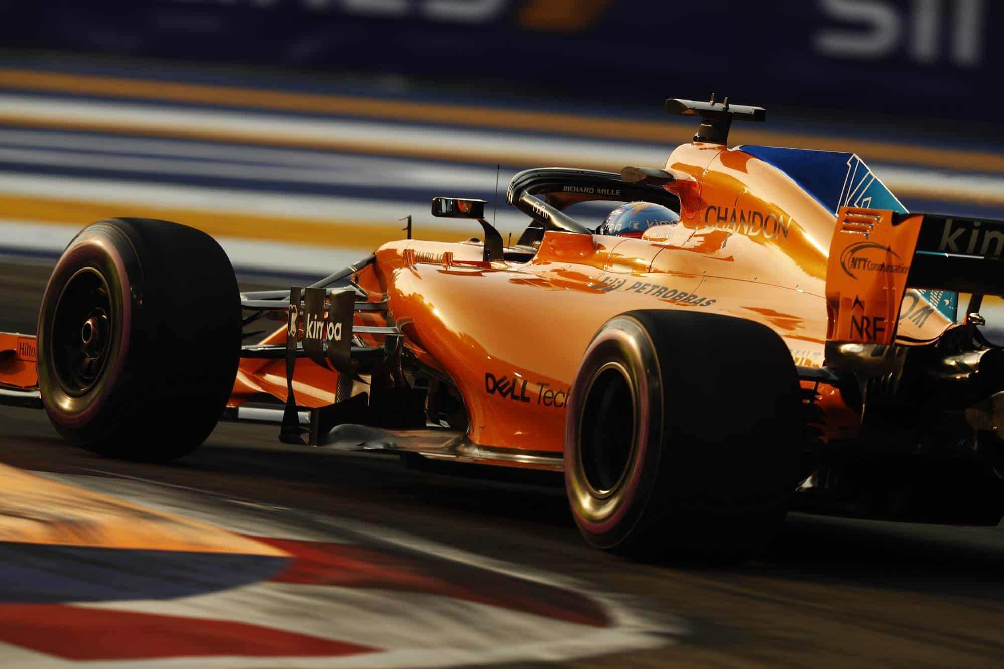 Alonso McLaren Singapore GP F1 2018 Photo McLaren