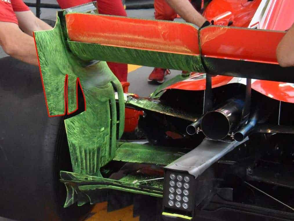 Ferrari SF71H Singapore GP F1 2018 rear wing floviz