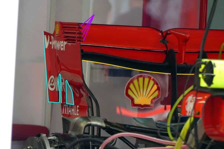 Ferrari SF71H rear wing Russian GP F1 2018 Sochi Photo AMuS MAXF1net