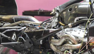 Force India VJM11 Belgian GP F1 2018 PU naked V6 zoom