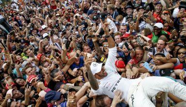 Hamilton Italian GP F1 2018 Monza in the crowd Photo Daimler