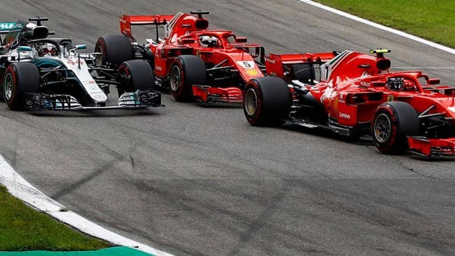 Hamilton Raikkonen Vettel Italian GP F1 2018