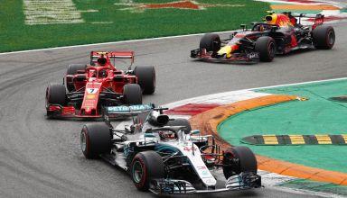 Hamilton leads Raikkonen Verstappen Italian GP F1 2018 Photo Daimler