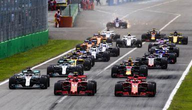 Italian GP F1 2018 start Monza Photo Ferrari