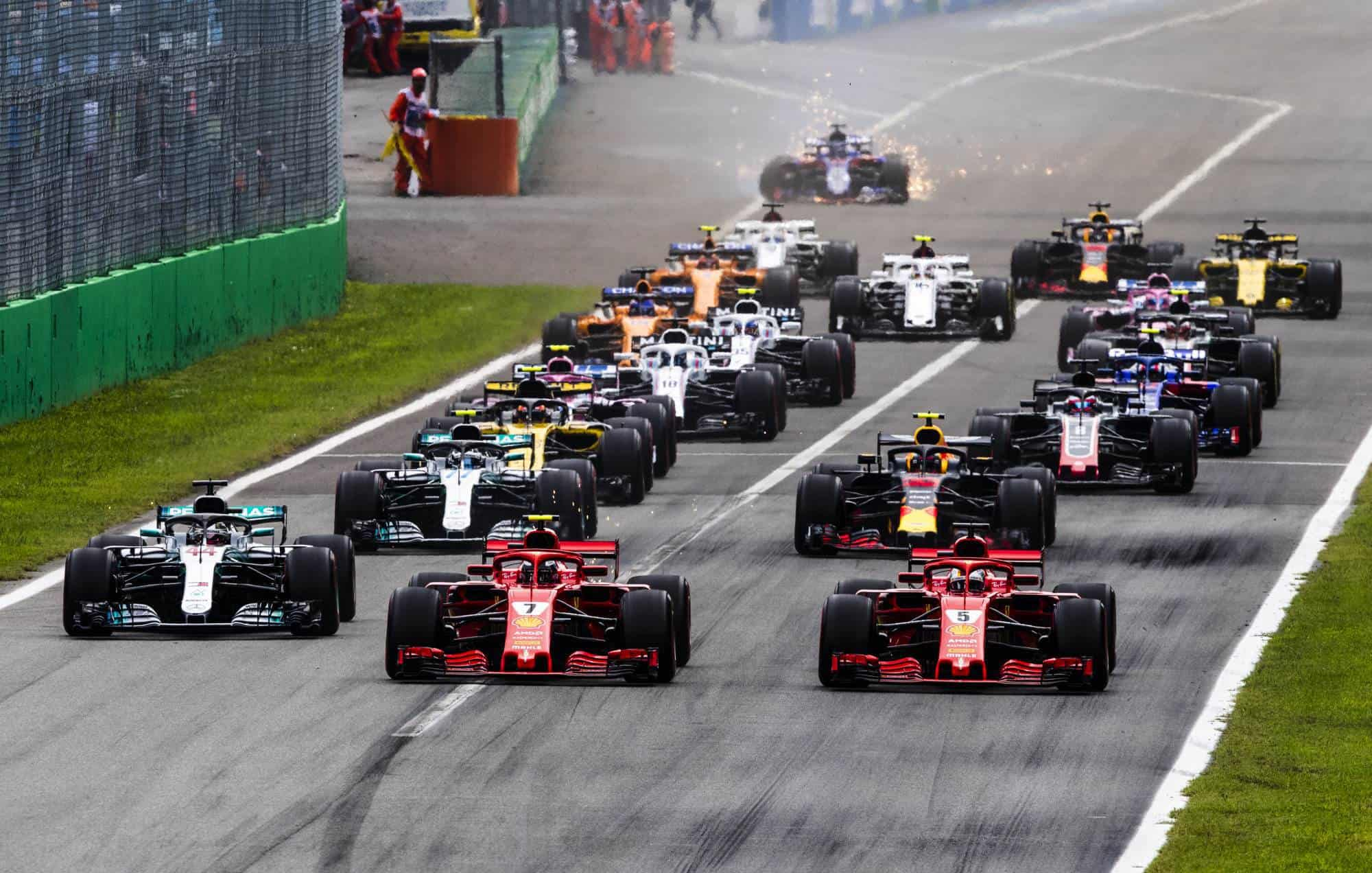 Italian GP F1 2018 start Monza Photo Ferrari