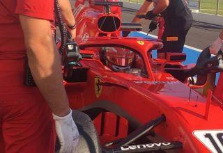 Leclerc Ferrari SF71H Pirelli F1 test 2018 Paul Ricard