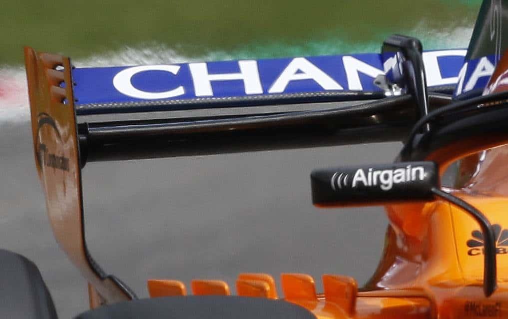 McLaren MCL33 rear wing endplate new