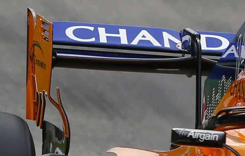 McLaren MCL33 rear wing endplate old