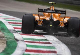 McLaren MCL33 rear wing rear end Italian GP F1 2018 low downforce Photo McLaren