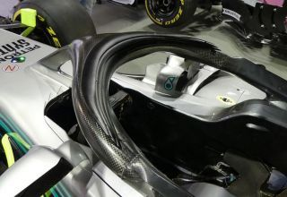 Mercedes W09 Singapore F1 2018 new halo protection aero cover triple winglets