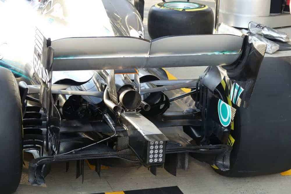 Mercedes W09 rear wing new monkey seat GP F1 2018 Photo Mercedes