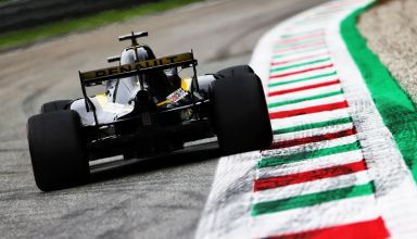 Nico Hulkenberg Renault Italian GP F1 2018 Monza first chicane exit Photo Renault