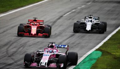 Perez leads Vettel Stroll Italian GP F1 2018 Photo Racing Point Force India
