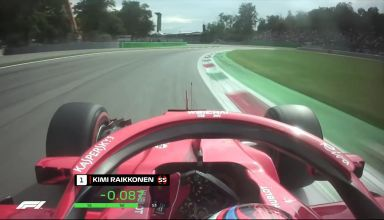 Raikkonen Ferrari Italian GP F1 2018 Monza onboard pole position Photo Youtube F1