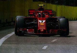 Raikkonen Ferrari SF71H Singapore GP F1 2018 race Photo Ferrari