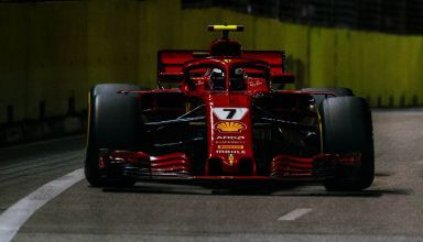 Raikkonen Ferrari SF71H Singapore GP F1 2018 race Photo Ferrari