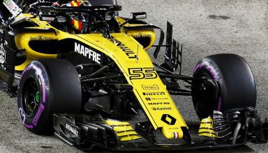 Renault RS18 Singapore GP F1 2018 bargeboards sidepod race