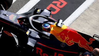 Ricciardo Red Bull RB14 Russian GP F1 2018 pitlane rear end Photo Red Bull edited by MAXF1net